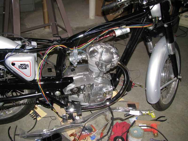 making my own 6v wire harness adventure rider rh advrider com Ducati 160 Monza Jr 1966 Ducati Monza Jr